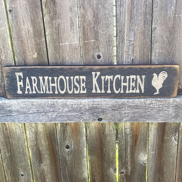 "Farmhouse Kitchen - 18"" Wooden Sign"